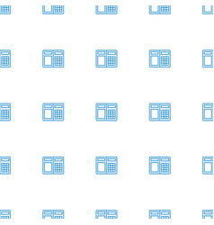 Atm icon pattern seamless white background vector