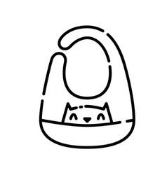 baapron icon design clip art line icon style vector image