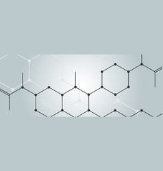 background with connect hexagon pattern vector image