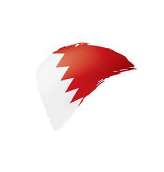 Bahrain flag on a white vector