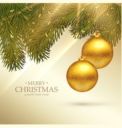 beautiful merry christmas festival greeting card vector image