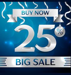 Big sale buy now twenty five percent for discount vector
