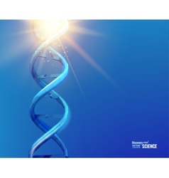 Blue background with DNA vector