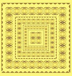Border design bandana image vector