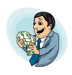 Businessman with money vector image