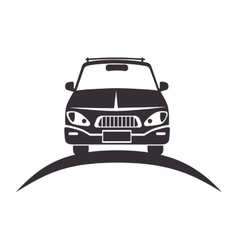 Car vehicle silhouette vector