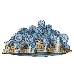 Cartoon abstract city vector