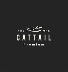 cattail hipster vintage logo icon vector image