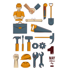 Construction tools collection vector