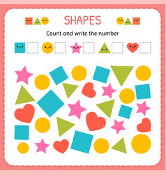Count and write the number learn shapes and vector