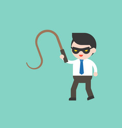 Cute businessman or manager with mask and whip vector