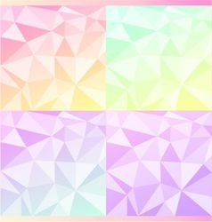 Cute triangles vector image