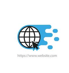 earth globe icon creative logotype website on a vector image