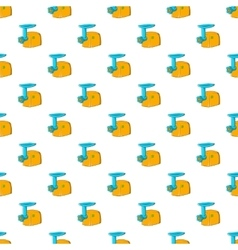 Electric grinder pattern cartoon style vector