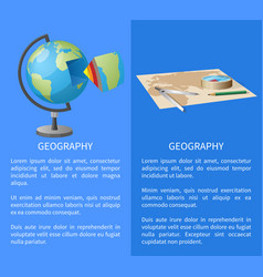 equipment for geographical researches vector image