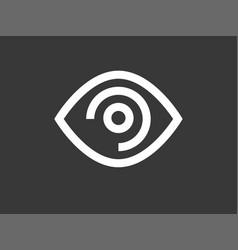 eye icon sign symbol vector image
