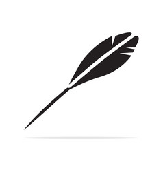 feather icon concept for design vector image
