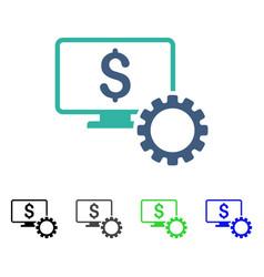 Financial monitoring options flat icon vector