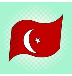 Flag of Turkey pop art vector image