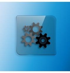 Four gears icon vector