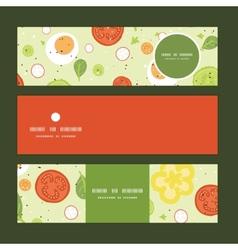 fresh salad horizontal banners set pattern vector image