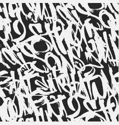 Graffiti grunge tags seamless pattern print vector