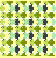 green seamless pattern with abstract elements vector image