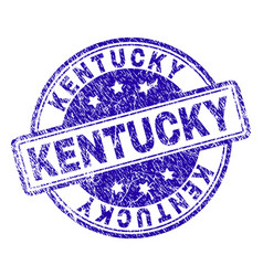 grunge textured kentucky stamp seal vector image