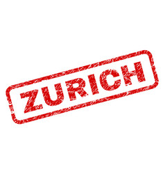 Grunge zurich rounded rectangle stamp vector