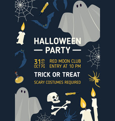 halloween party invitation flyer or poster vector image