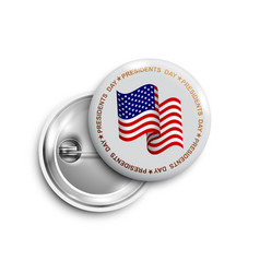 happy presidents day buttonbadgebanner isolated vector image
