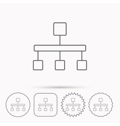 Hierarchy icon Organization chart sign vector image