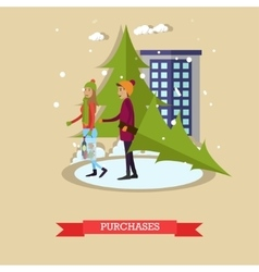 Holiday purchases design vector