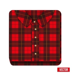 Icon flannelet check texture plaid shirt vector image