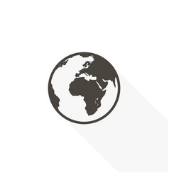 icon of the earth in a flat style on a white vector image