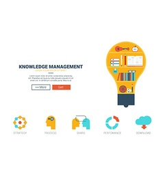 Knowledge management website template vector image