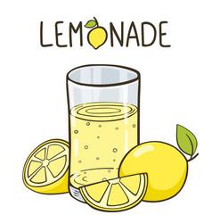 lemonade glass lemonade logo vector image