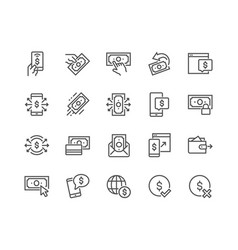line payment icons vector image