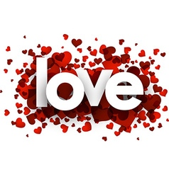 Love card with hearts vector image