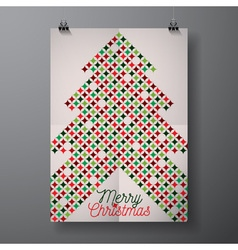Merry Christmas Holiday with typographic design vector