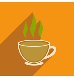 Modern flat icon with long shadow indian tea vector