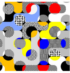 Paper cut shapes design seamless pattern vector