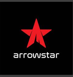 red arrow star sport adventure outdoor t shirt vector image