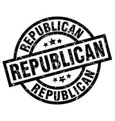 Republican round grunge black stamp vector