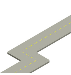 road isometry icon vector image