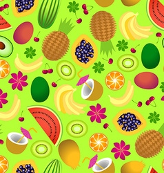 seamless pattern of tropical fruit vector image