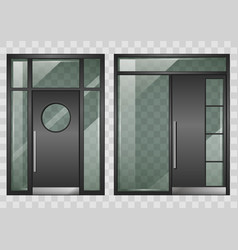 set of modern entrance doors vector image