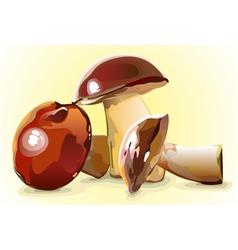 shiny mushrooms vector image