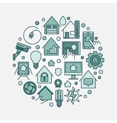 Smart home circular vector