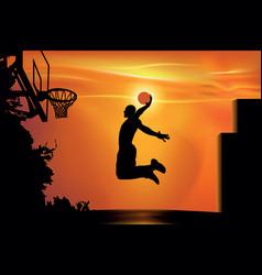 street basketball vector image
